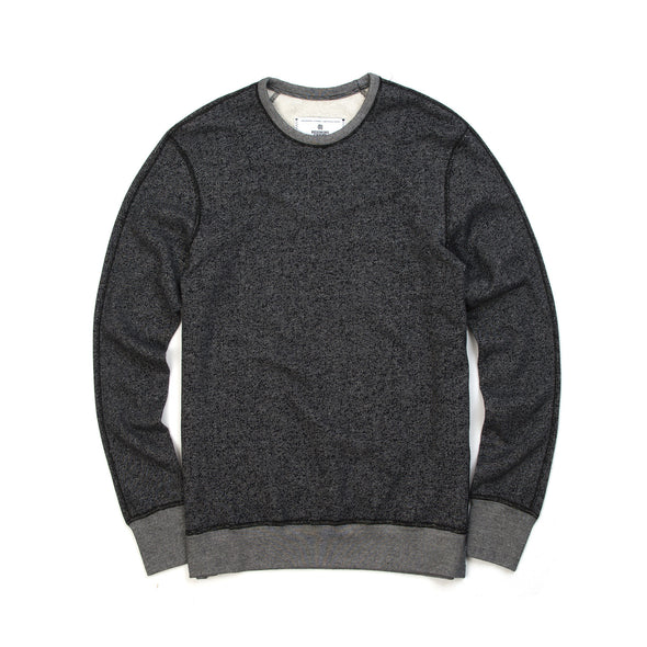 Reigning Champ | Long Sleeve Crew Black - Concrete