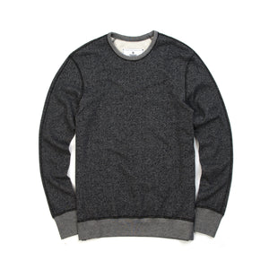 Reigning Champ Long Sleeve Crew Black - Concrete