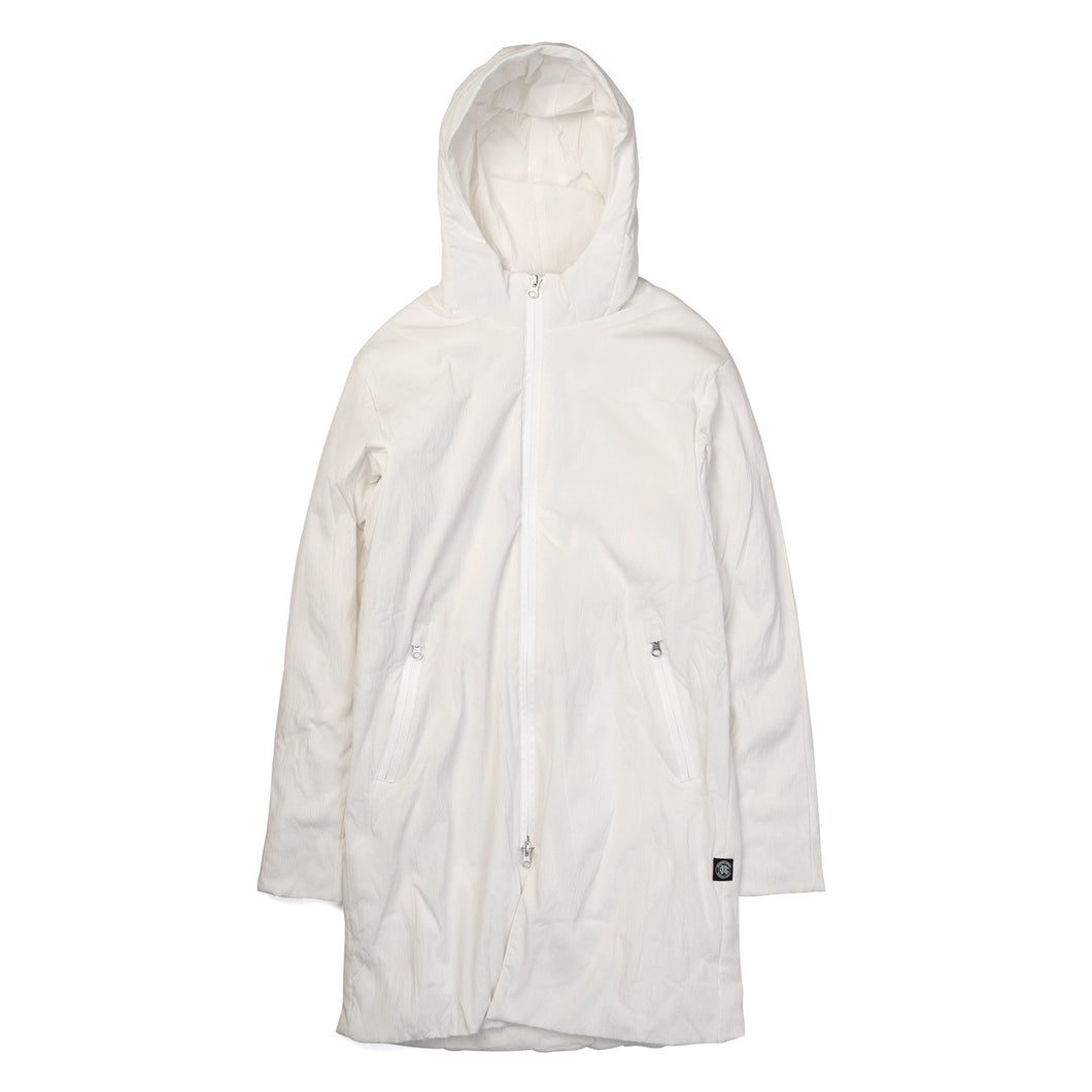 Reigning Champ | Woven Insulated Stretch Nylon Sideline Jacket White - Concrete