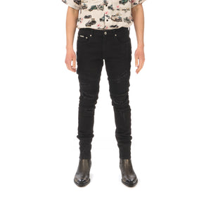 REPRESENT | Biker Denim Black