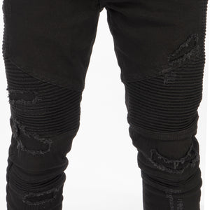 REPRESENT | Biker Denim Black - Concrete