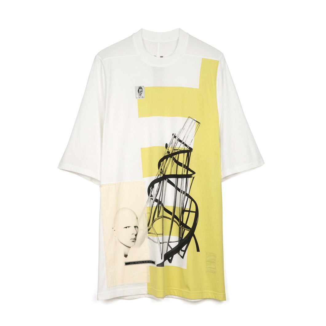 DRKSHDW by Rick Owens Jumbo Tee Milk / Dark Lime - Concrete