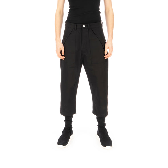 DRKSHDW by Rick Owens | Cargo Collapse Cropped Out Pants Black - Concrete