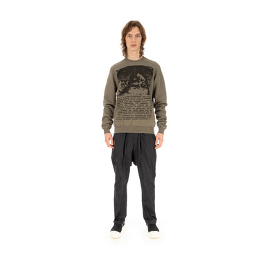 DRKSHDW by Rick Owens | Crewneck Sweat Dust / Black - Concrete