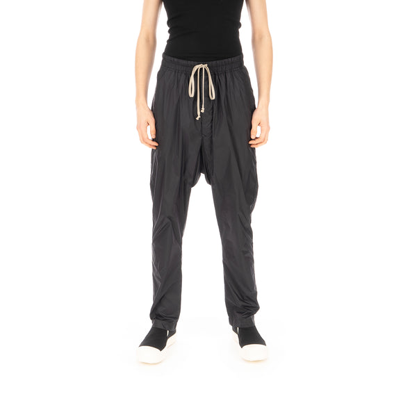 DRKSHDW by Rick Owens | Drawstring Long Pants Nylon Black - Concrete