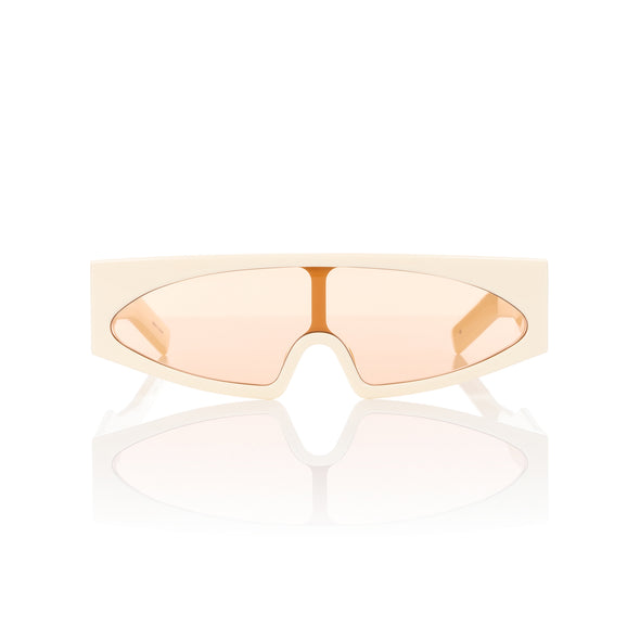 Rick Owens | Sunglasses Gene Cream Temple / Orange Lens