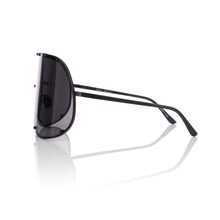 Load image into Gallery viewer, Rick Owens | Sunglasses Shield Black Temple / Black Lens