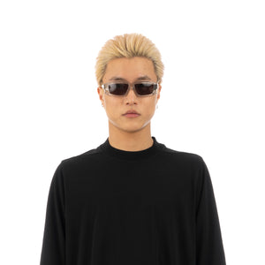 Rick Owens | Sunglasses Rick Transparent Temple / Black Lens - Concrete