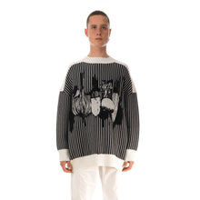 將圖像加載到畫廊查看器中Henrik Vibskov Root Knit Black / White Stripes