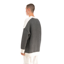 Load image into Gallery viewer, Henrik Vibskov | Root Knit Black / White Stripes - Concrete