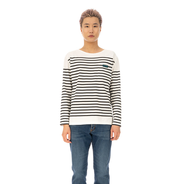 SELF CINEMA | M Breton White / Black Stripe - Concrete