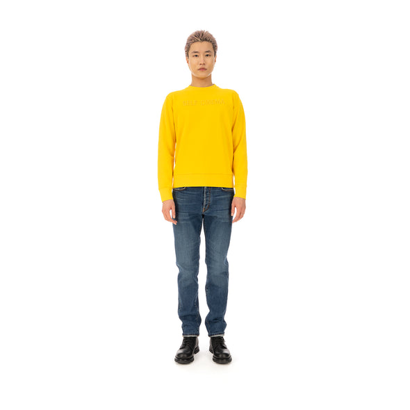 SELF CINEMA | M Embroidered Sweatshirt Yellow - Concrete