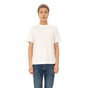 SELF CINEMA | M Embroidered T-Shirt Off White - Concrete