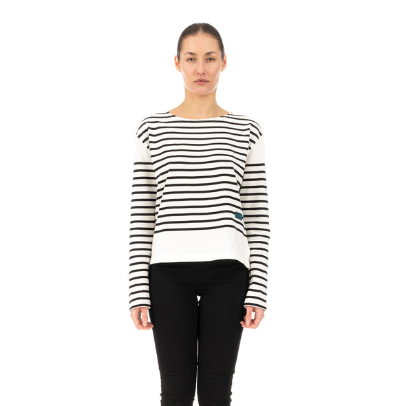 SELF CINEMA | W Breton White / Black Stripe