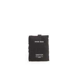 QWSTION Shoe Bag Washed Black