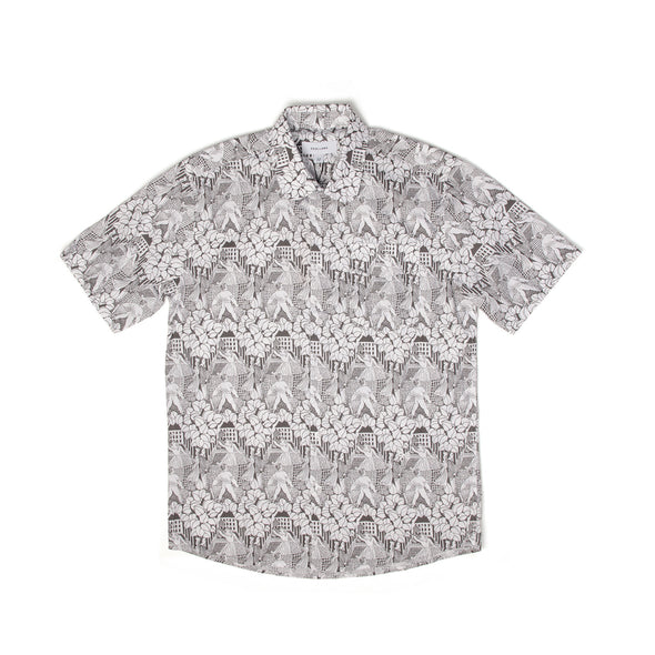 Soulland | Point Shirt White/Black - Concrete