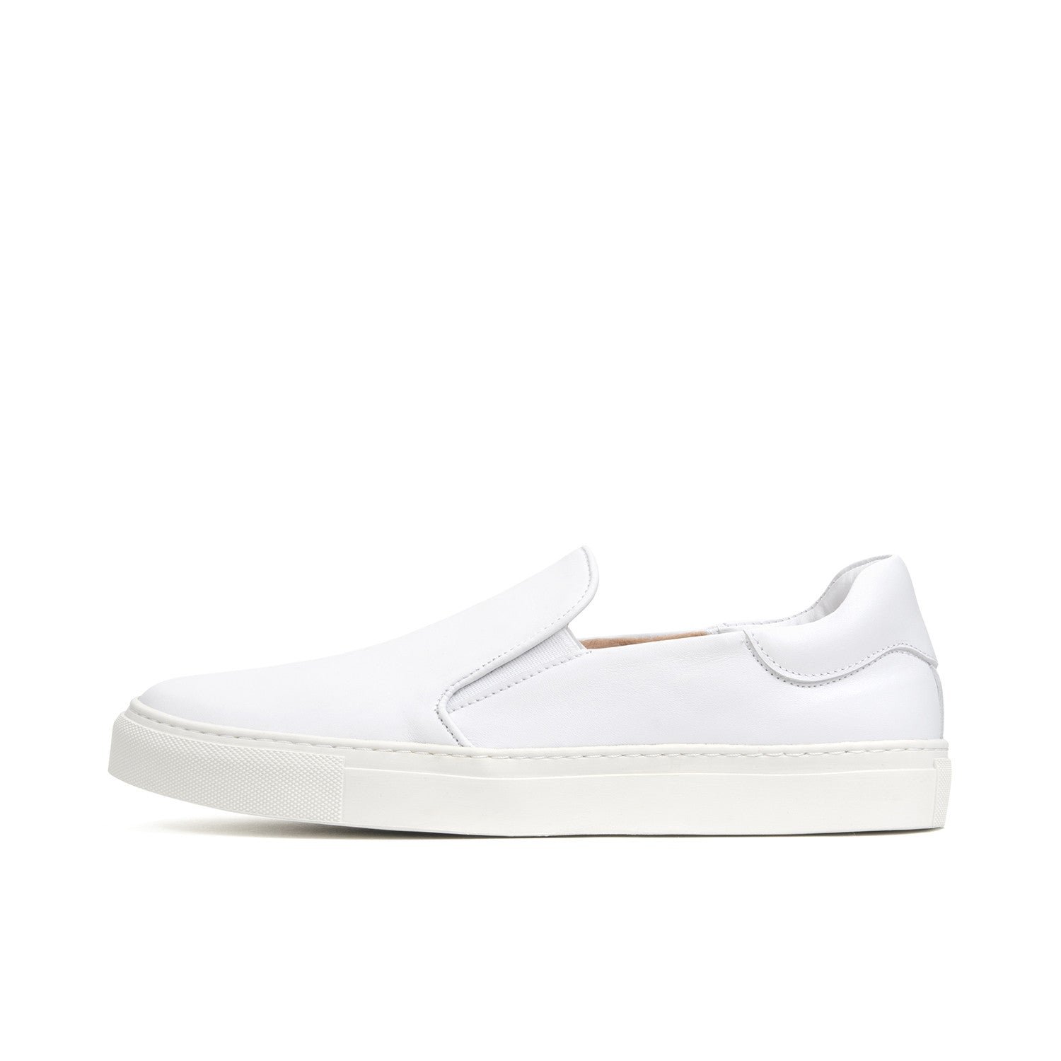 Soulland Dog Leather Slip On Shoe White - Concrete
