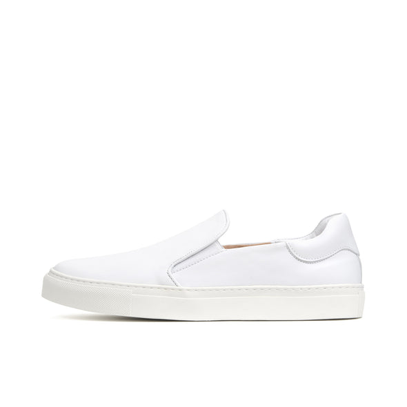 Soulland | Dog Leather Slip On Shoe White - Concrete