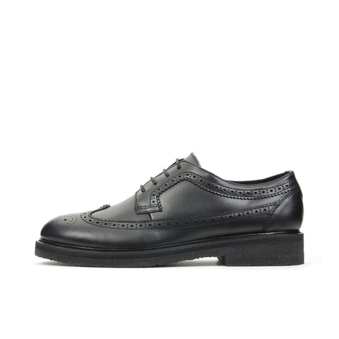 Soulland Rajnai Brogue Shoe Black/Black - Concrete