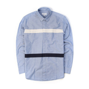 Soulland | Asklund Shirt Blue - Concrete