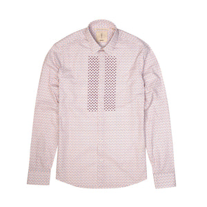 Saint Paul Plaston Square Shirt L/S Red - Concrete
