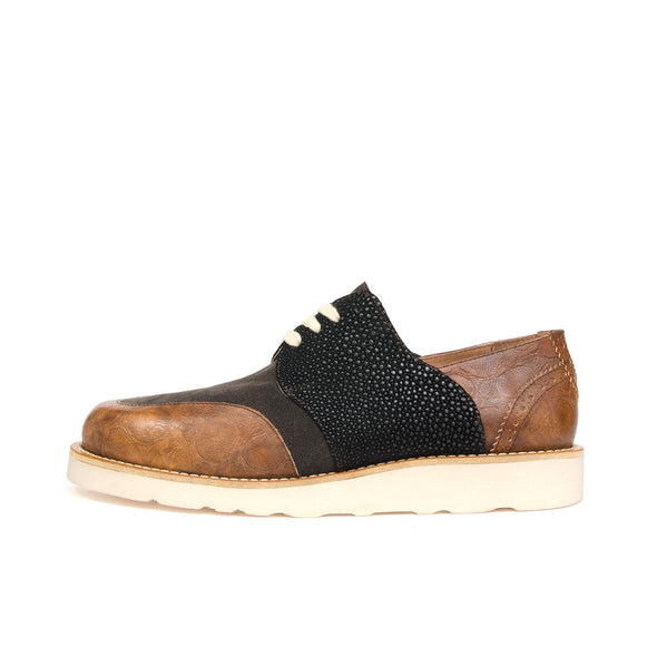 Soulland Tove Plus Shoe Camel / Black - Concrete