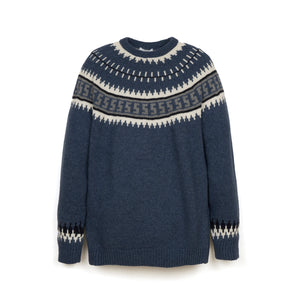 Soulland Zama Knitted One Piece Sweater Blue - Concrete