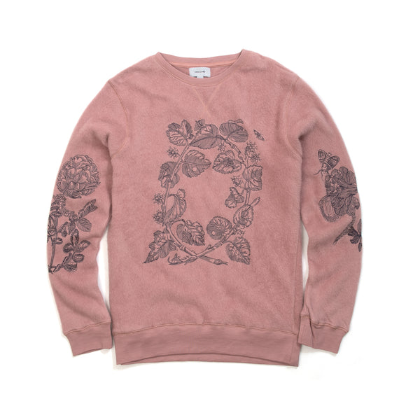 Soulland | Damian Merino Wool Sweat Rose - Concrete