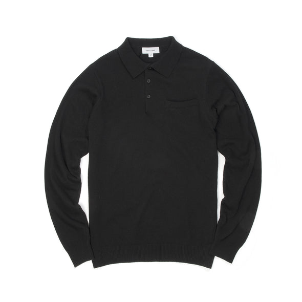 Soulland | Man Polo Sweater Black - Concrete