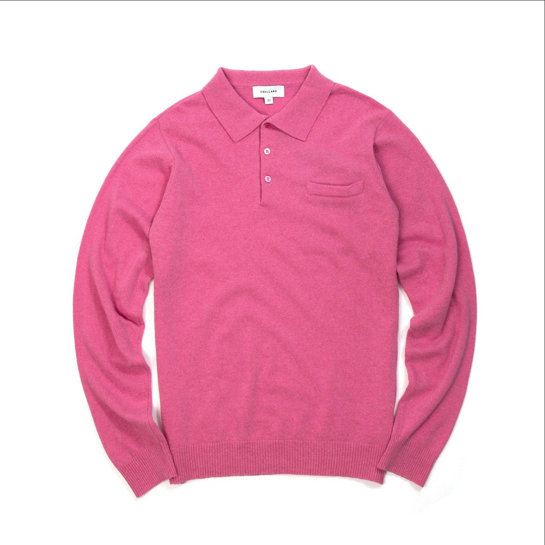 Soulland | Man Polo Sweater Dusty Pink - Concrete
