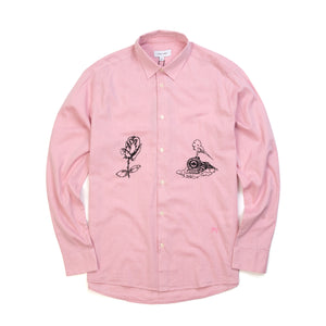Soulland | Marvin Shirt With Embroidery Pink - Concrete
