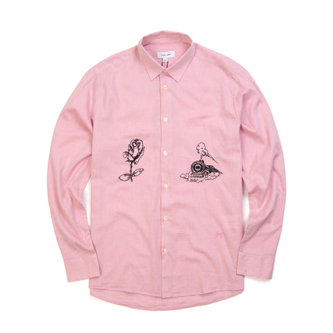Soulland Marvin Shirt W. Emroidery Pink