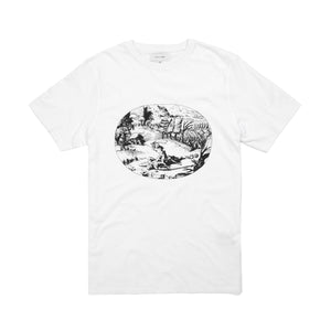 Soulland | Needa Print T-Shirt White - Concrete