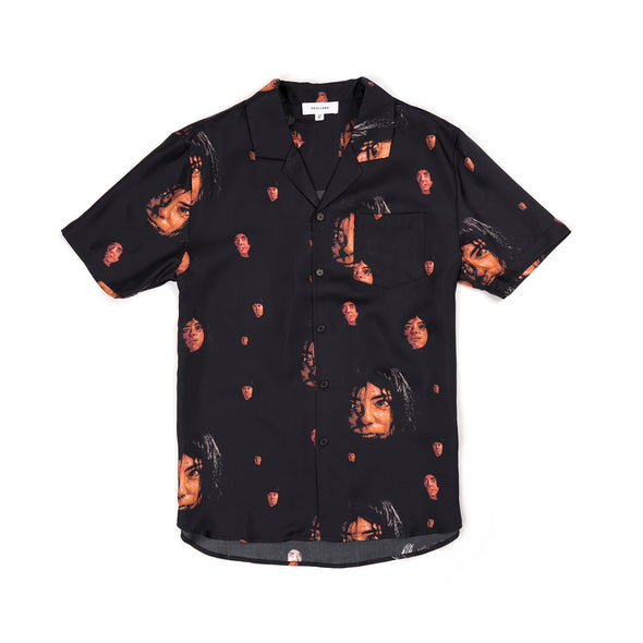 Soulland Zev Silk Shirt Black/Multi