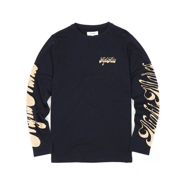 Soulland | Byrd L/S T-Shirt Navy - Concrete