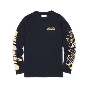 Soulland Byrd L/S T-Shirt Navy - Concrete