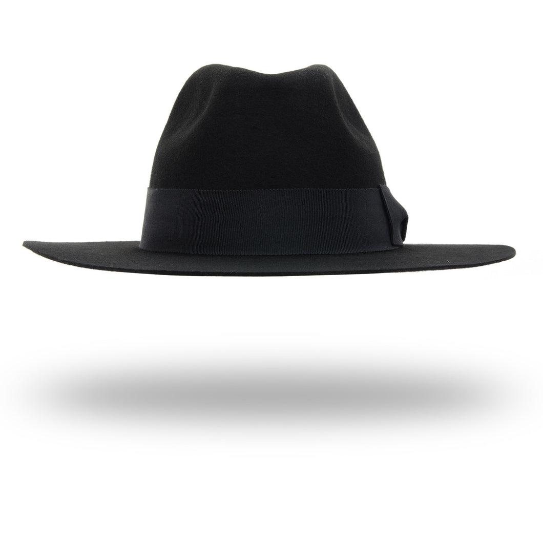 Soulland | Bille Fedora Hat Black - Concrete