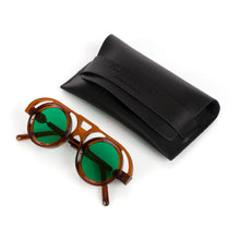 Load image into Gallery viewer, KUBORAUM Sunglasses & Case T10 42-27 COP Green