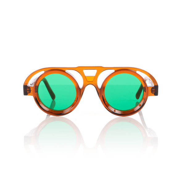KUBORAUM Sunglasses & Case T10 42-27 COP Green