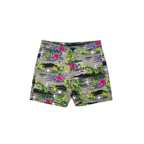 TSPTR Aloha Trunks Multi Floral - Concrete