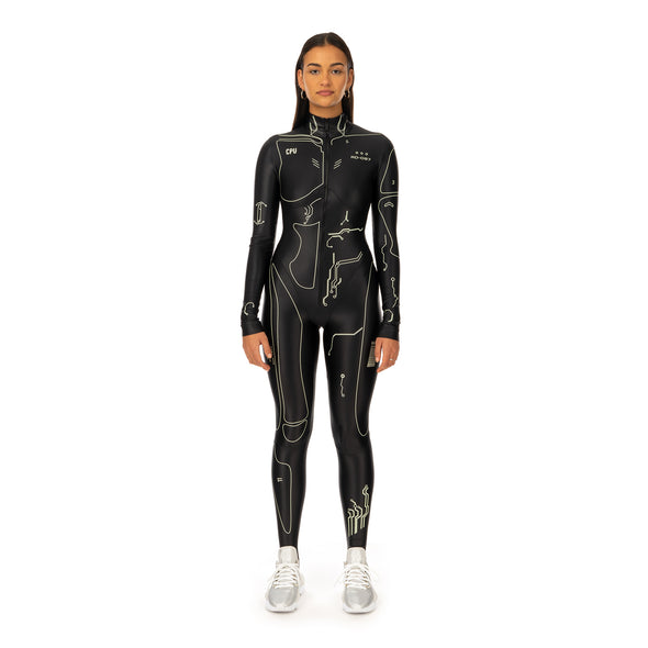 TTSWTRS | Skin-Tight Overall Black - Concrete