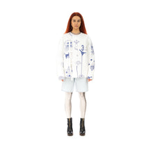 Afbeelding in Gallery-weergave laden, TTSWTRS | 'Gzhel' Quilted Coat White
