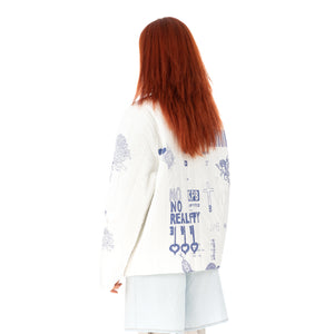 TTSWTRS | 'Gzhel' Quilted Coat White