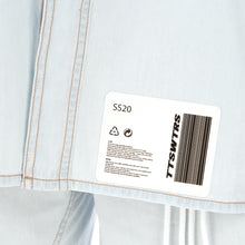 Load image into Gallery viewer, TTSWTRS | Oversized Denim Shirt Light Blue