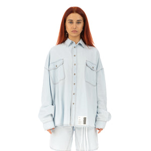 TTSWTRS | Oversized Denim Shirt Light Blue - Concrete