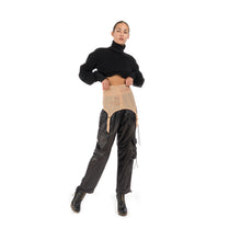 Load image into Gallery viewer, TTSWTRS Slimming Mesh Belt Beige