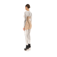Load image into Gallery viewer, TTSWTRS Slimming Mesh Corset Dress Beige