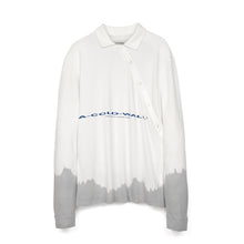 Load image into Gallery viewer, A-COLD-WALL* Recut Polo Longsleeve Shirt White