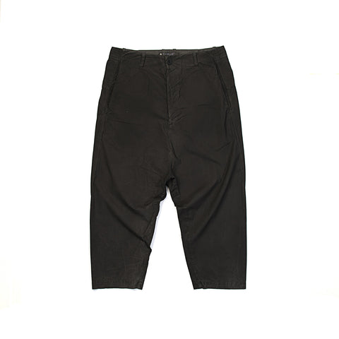 Transit Uomo Cropped Trousers Black - Concrete