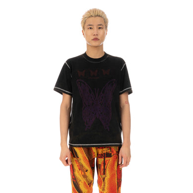 United Standard Butterfly Acid T-Shirt Black